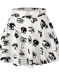 Women's  Eye Print Pleated Skirt
