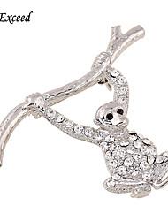 d dépasse Lovely Fashion PINS Broches argent belle cristal de singe Broche bouquet pour femmes / Broche pour enfants