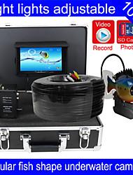 """trouveur de poissons caméra sous-marine 100m caméra sous-marine poissons de pêche finder 7 """"TFT LCD fonction écran couleur DVR"""