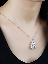 Peanut Pearl Pendant 925 Sterling Silver Necklace women Xiang Zhuiyin jewelry jewelry