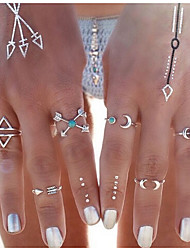 New Arrival Fashional Geometric Arrow Rings A Set
