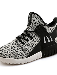 Men's Shoes Knitted Mesh Casual Leisure Fashion Shoes Grey/Black