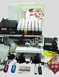 4 Guns BaseKey Tattoo Kit K403 Machine With Power Supply Grips Cups Needles(Ink not included)