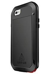 На все тело Защита от влаги / Ударопрочный Однотонные Металл жесткий Для крышки случая Apple iPhone 6s Plus/6 Plus / iPhone 6s/6