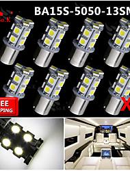 8x superhelle weiße BA15S 1156 Autorück wiederum Lichtsignal 13 Birne LED-SMD 12V