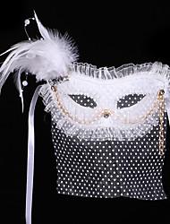 Masque / Bal Masqué Ange et Diable Fête / Célébration Déguisement Halloween Blanc Couleur Pleine Masque Halloween / Carnaval Unisexe