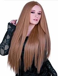 Long Length Hair European Weave Light Brown Color Hair Wig