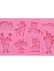 Animal Cats Fish Silicone Chocolate Mould,Fondant Baking Mold,Sugar Decoration Tool,Silicone Mold Decoration SM-064
