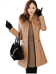 Women cultivate one's morality cashmere wool woolen cloth long-sleeved jacket Leisure fashion cloth coat  HOUTW23