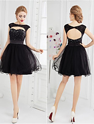 Cocktail Party Dress Ball Gown Scoop Short/Mini Tulle
