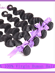 """extension de cheveux de trame 3 pièces / lot indien vague de corps ondes de corps 8 """"-30"""" couleur naturelle noir Vente en Gros"""