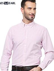 JamesEarl Men's Shirt Collar Long Sleeve Shirt & Blouse Red - M81XF000501
