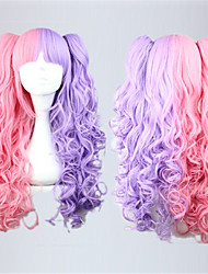 Lolita Wigs Sweet Lolita Lolita Long Pink Lolita Wig 70 CM Cosplay Wigs Patchwork Wig For Women
