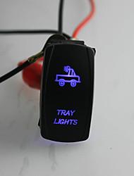 iztoss a laser 5pinos interruptor on-off bandeja levou luz 20a 12v azul com fios de instalar