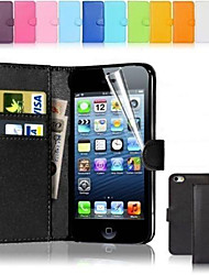 PU Leather Card Holder Wallet Case for iPhone 5C