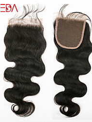 fermeture à lacets suisse vague de corps brésilienne vierge milieu de cheveux / libre / la troisième partie de la dentelle pas cher