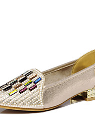 Zapatos de mujer - Tacón Bajo - Comfort - Planos - Oficina y Trabajo / Vestido / Casual - Sintético - Negro / Oro