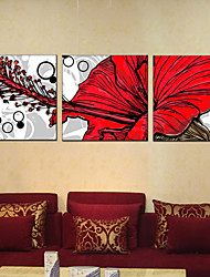 Stretched Canvas Art Flower Home Decorative Pictures 60*60CM*3PCS
