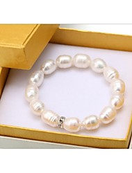 9-10mm natural rice shaped Pearl Bracelet AAA very bright pearl