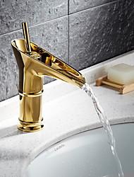 Clássica Conjunto Central Válvula Cerâmica Uma Abertura Monocomando e Uma Abertura for  Ti-PVD , Torneira pia do banheiro