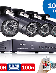 ZOSI®4CH CCTV System 960H DVR 4PCS 1000TVL IR Weatherproof Outdoor CCTV Camera Home Security System Surveillance Kits