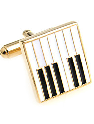 Piano keys piano keys French shirt cufflinks cuff nail