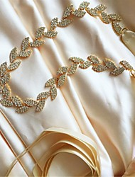 Satin Wedding / Party/ Evening / Dailywear Sash-Beading / Rhinestone Women's 98 ½in(250cm) Beading / Rhinestone