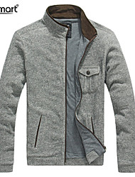 Lesmart Men's Stand Long Sleeve Sweater & Cardigan Gray - JX13142
