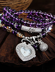 Natural crystal bracelet ladies fashion personality all-match chalcedony quartz watch watches Cool Watches Unique Watches