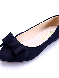 Women's Shoes Suede Flat Heel Comfort / Pointed Toe / Closed Toe Flats Dress / Casual Black / Blue / Pink / Burgundy