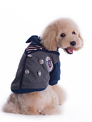 Dog Coat / Clothes/Clothing / Clothes/Jumpsuit Gray / Wine Winter Stripe / Bowknot Keep Warm / Fashion