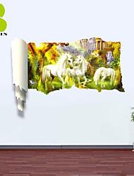 """Animais / Botânico / Paisagem / Fantasia Wall Stickers Autocolantes 3D para Parede , PVCL:85cmX127cmX0.3cm(33.5""""X50.0""""X0.1"""");M:"""