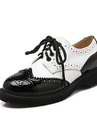 Zapatos de mujer - Plataforma - Plataforma / Creepers / Punta Redonda - Oxfords - Exterior / Vestido / Casual - Cuero Patentado -Negro /