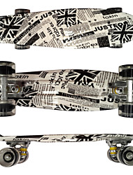 PP Plastic Skateboard (22 Inch) Cruiser Board Black Color