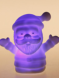 Santa Claus coloré en forme de Night Light LED