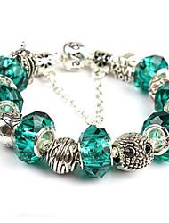 Silber überzogene Glasperlenarmband