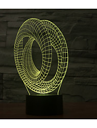 Visual 3D Abstract Spiral Mood Atmosphere LED Decoration USB Table Lamp Colorful Gift Night Light