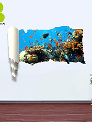 3D Wall Stickers Wall Decals, Sea World Decor Vinyl Wall Stickers