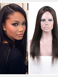 "10""-30"" Silky Straight Human Hair Lace Wig Brazilian Full Lace Human Hair Wigs Straight Glueless Lace Front Wigs"