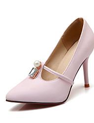 женская обувь пу весна / осень / пятки заостренный носок пятки офис&карьера / платье / вскользь стилет каблук жемчуг / блесток