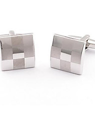 Men's Stainless Steel Square Metal Business Shirt Cufflinks Wedding Jewelry NEW