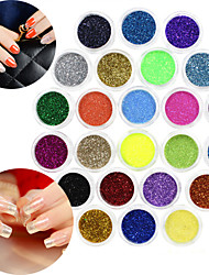 24 Color glitter Nail Art Decorations