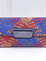Women PU Casual / Outdoor Clutch Blue / Green / Red / Gray / Black / Multi-color