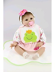 NPKDOLL Reborn Baby Doll Soft Silicone 22inch 55cm Magnetic Mouth Lovely Lifelike Cute Boy Girl Toy Green Frog