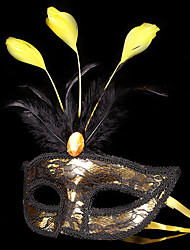 Masque / Bal Masqué Ange et Diable Fête / Célébration Déguisement Halloween Rouge / Doré / Argent Mosaïque Masque Halloween / Carnaval