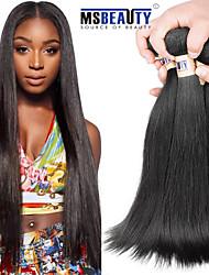 """4 pièces / lot 8 """"-30"""" cheveux brésilienne vierge de cheveux humains droite 6a trames 100% remy brésilien non transformés tissages de"""