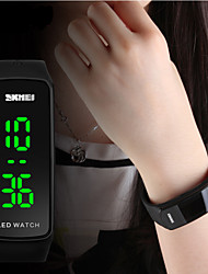SKMEI® Women's Slim Design LED Digital Silicone Watch Cool Watches Unique Watches Fashion Watch