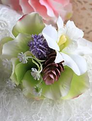Fleurs de mariage Forme libre Pivoines Petit bouquet de fleurs au poignet Mariage / Le Party / soirée Multicolore Polyester / Satin