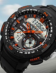 SKMEI® Men's Dual Time Analog-Digital Sports Watch Racing Design Wristwatch Cool Watch Unique Watch