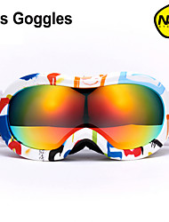 Outdoor Safety Children Skiing Goggles Snowboarding Dual Layer Lens Anti-Fog Snow Ski Glasses Sport Mask For Kids NH6001